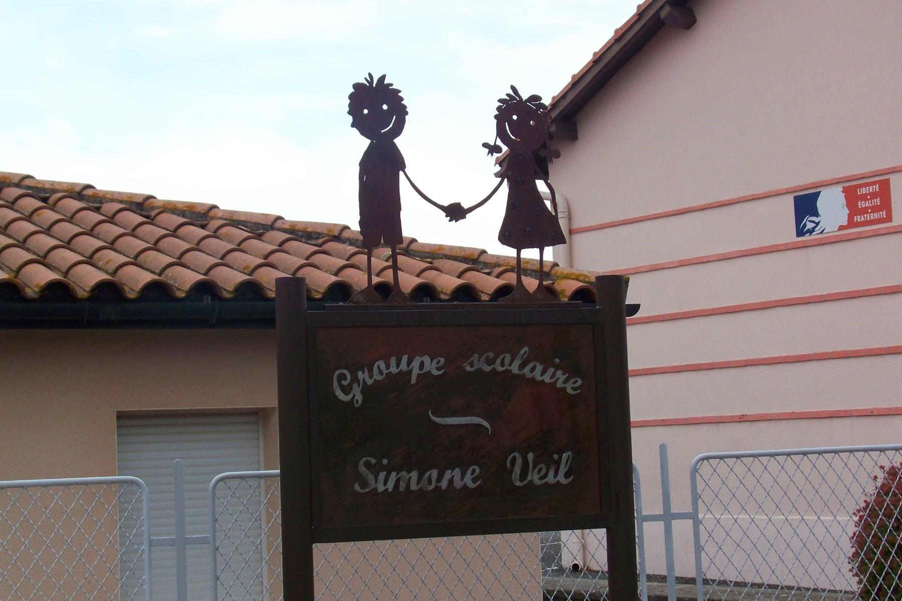 pancarte Groupe scolaire Simone Veil