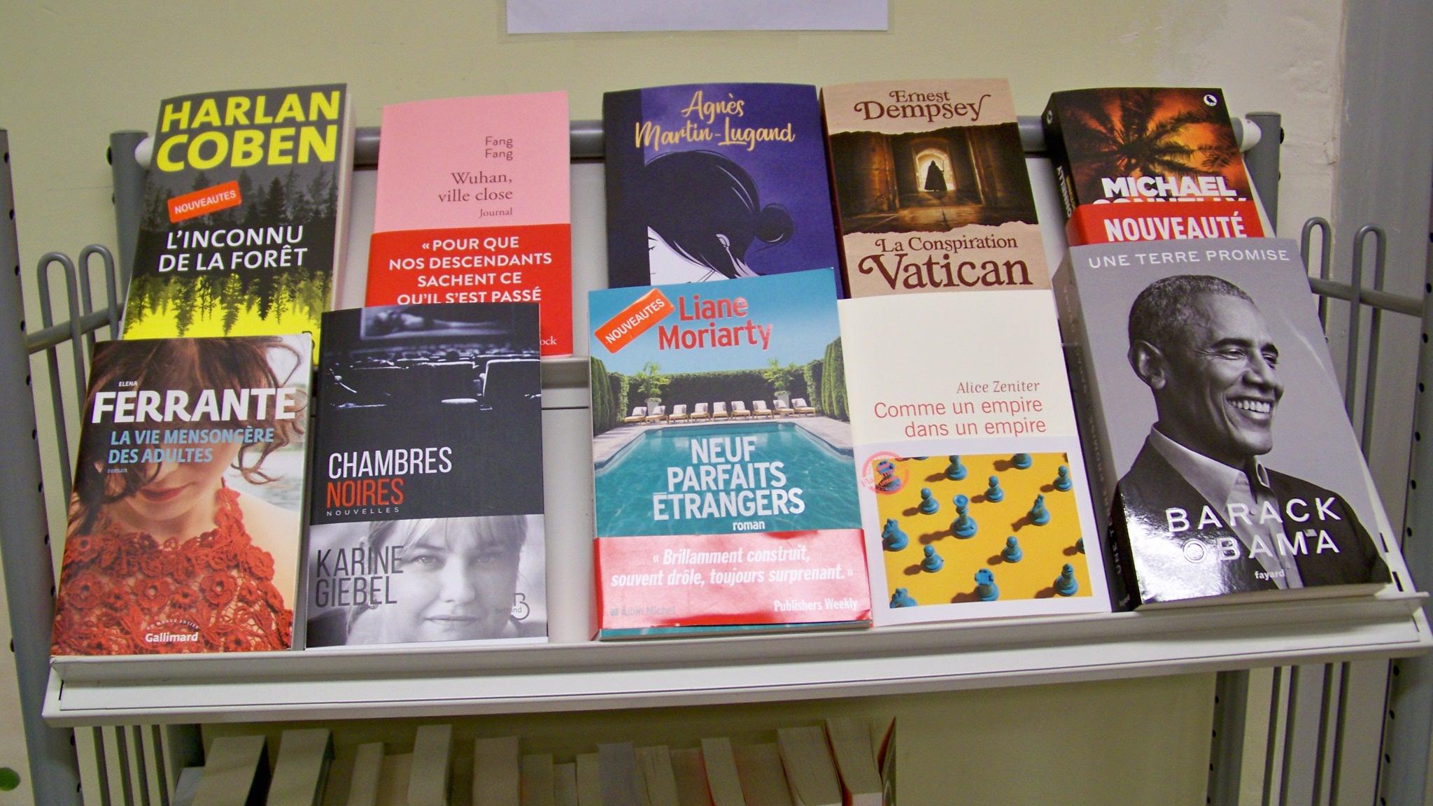 les nouveaux livres de la bibliothèque
