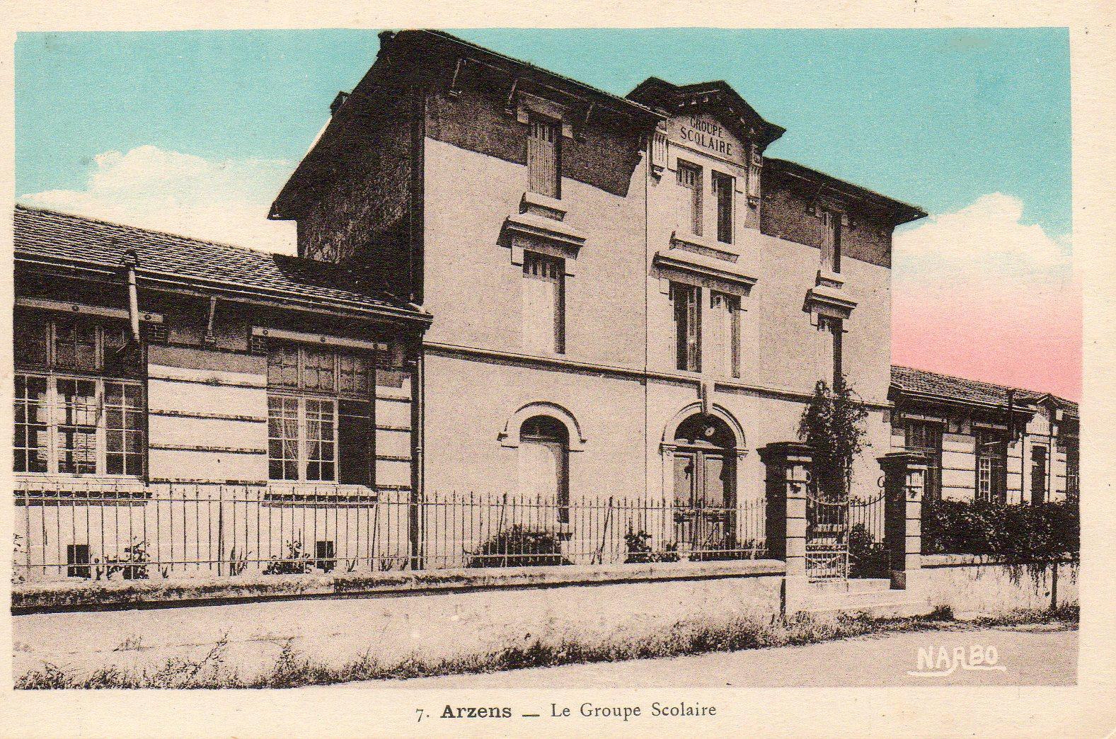 photo ancienne de l'école d'Arzens