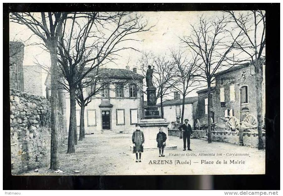 photo ancienne de la mairie d'Arzens